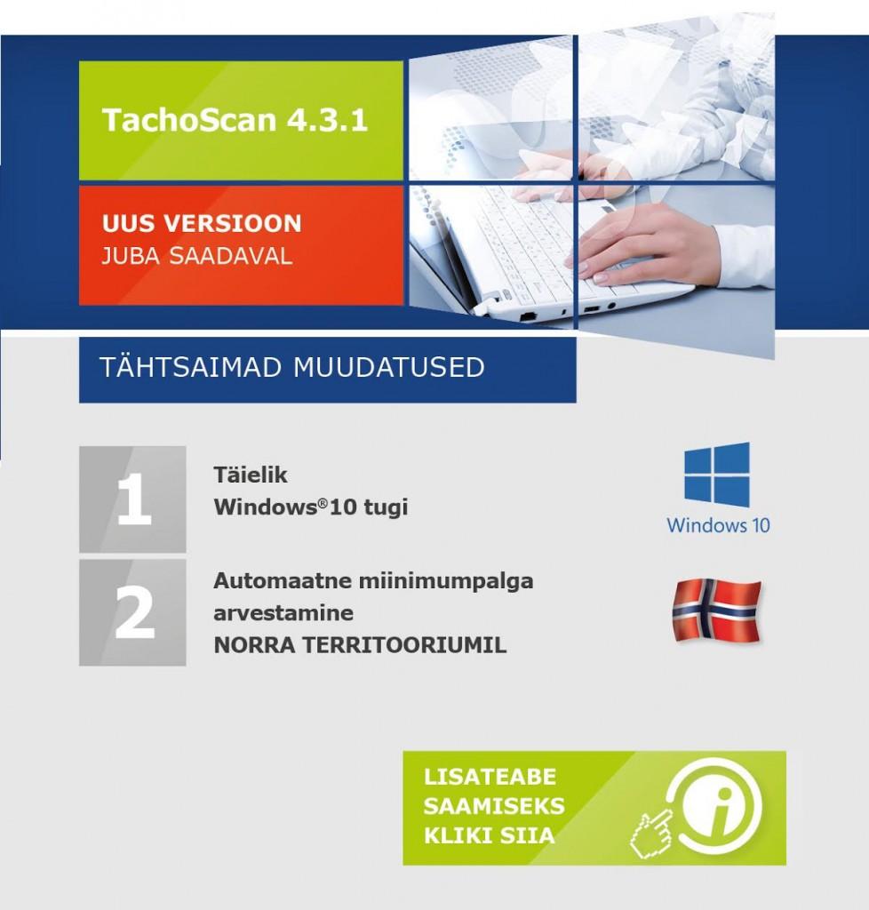 TachoScan uus versioon 4.3.1 EST2