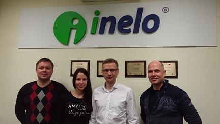 Ametikoolitus OÜ team (vasakult): Vitali Nester, Kyllikki Hütti, Lenno Põder ja Priit Lilleorg. Poolas töö- ja puhkeaja koolitusel.